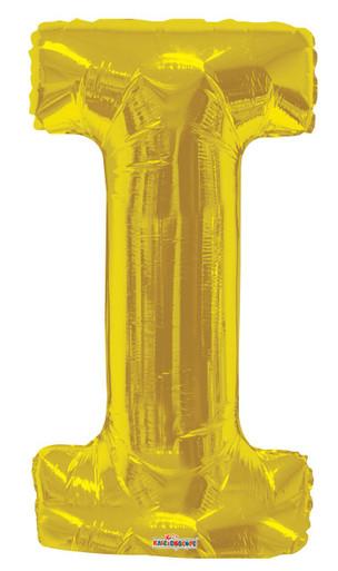 gold letter balloons letter i balloons