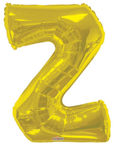 gold letter z balloon