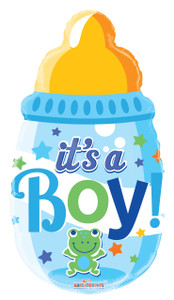 its a boy balloons ,baby bottle balloons