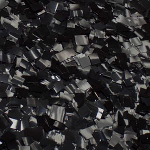 Confetti Metallic Black Glitter Confetti 1LB Bag