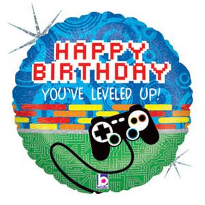 "18"" Minecraft  HB Pixel Helium Foil Balloon 1ct #36020"