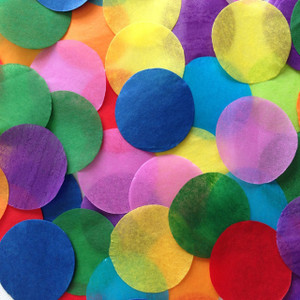 Confetti Multi Color Circles Confetti Tissue 1LB Bag
