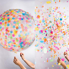 balloons with confetti