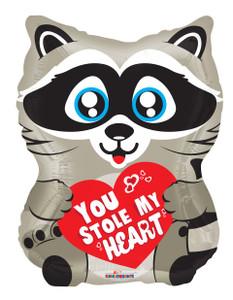 raccoon balloons you stole my heart