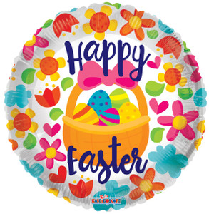 "18"" Happy Easter Basket Helium Foil Balloon 1ct #82073"