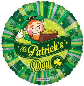 "18"" St. Patricks Day Scene Helium Foil Balloon 1ct #82059"