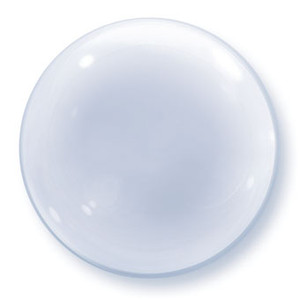 "24"" Clear Deco Bubble Balloon 1pk #68825"