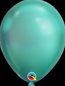 chrome green balloons