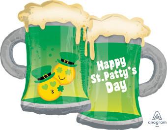 "32"" St. Patricks BeerMug Balloon 1ct #36455"