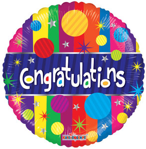 "18"" Congratulations Triangles Foil Helium Balloons 1ct #15840"
