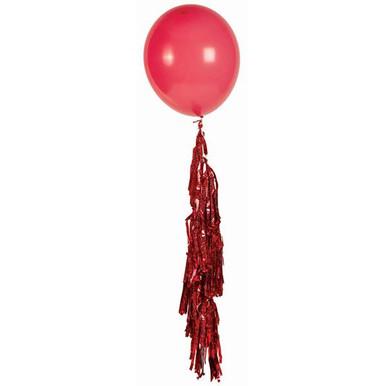red balloon tassel