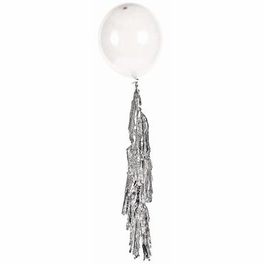 silver balloon tassel