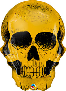 "24"" Golden Skull Helium Foil Balloon 1ct #58132"