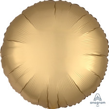 satin luxe gold circle balloon