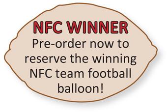 nfc footbal balloons