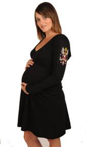 Fierce Love Hoodie Maternity Dress