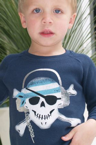 Rockin Pirate Baby Thermal Tee