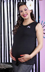Baby Skull Sleeveless Maternity Top