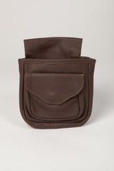 Double Pouch Wide Gusset- Brown