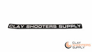 Clay Shooters Supply Gun Barrel Sticker (Pack of 5) - Black