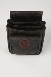 Cape Buffalo Hide Shotgun Shell Pouch Deluxe - Black