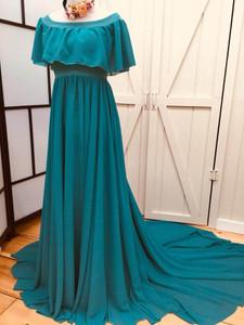 Teal Maternity Dress