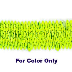 6MM cup sequins strings FLORO LIME - 09072-00022