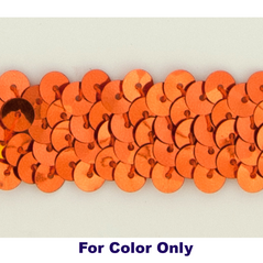 6MM cup sequins strings ORANGE - 09072-00030