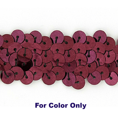 6MM cup sequins strings WINE - 09072-00046