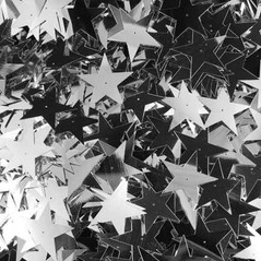 50MM Stars loose sequins SILVER - 09086-00002