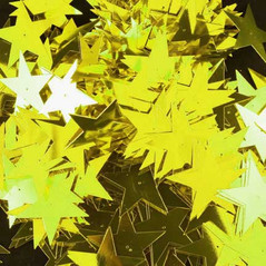 50MM Stars loose sequins CHARTREUSE - 09086-00017