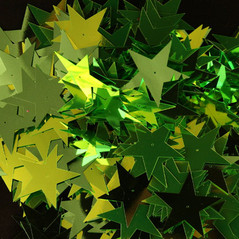 50MM Stars loose sequins FLORO LIME