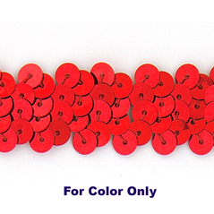 8MM cup sequin strings RED - 09073-00004