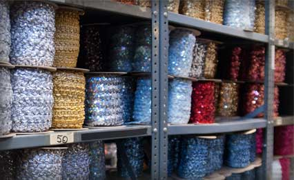 About Sequins - Our Manufacturing and Warehouse