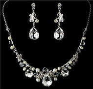 Couture Gorgeous Crystal Bridal Wedding Prom Earrings Necklace Set    WS8388