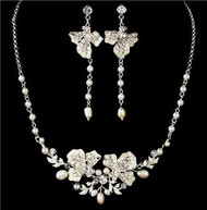 Couture Gorgeous Crystal Bridal Wedding Prom Earrings Necklace Set WS7803