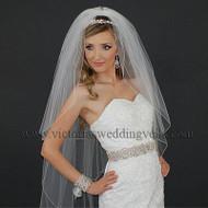 3 Layers Bridal Veil Pencil Edge N40-4