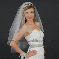 2 Layer Bridal Veil Cut Edge Oval N29
