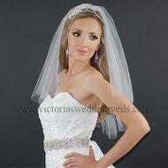 2 Layer Bridal Veil Cut Edge Oval N23