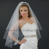 2 Layer Bridal Oval Veil Cut Edge N22