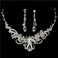 Couture Beautiful Crystal Bridal Wedding Prom Jewelry Set HS9