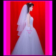 "Bridal Veil Wedding 3 Tiers  25''x30''x35""  35-3"