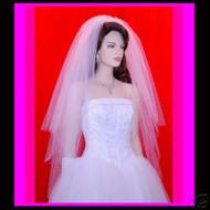 "Bridal veil swarovski Pearl Wedding  28""x33""x40"" 31P"