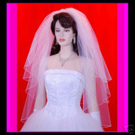 "Bridal veil 3 Tiers Wedding 25""x30""x35"" 30-4"