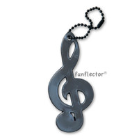 funflector Soft Film Black Treble Clef Reflector