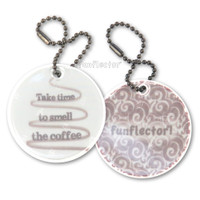 funflector Soft Film Take Time To Smell The Coffee Double Sided Reflector