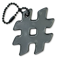 funflector Soft Film Black Hashtag Reflector
