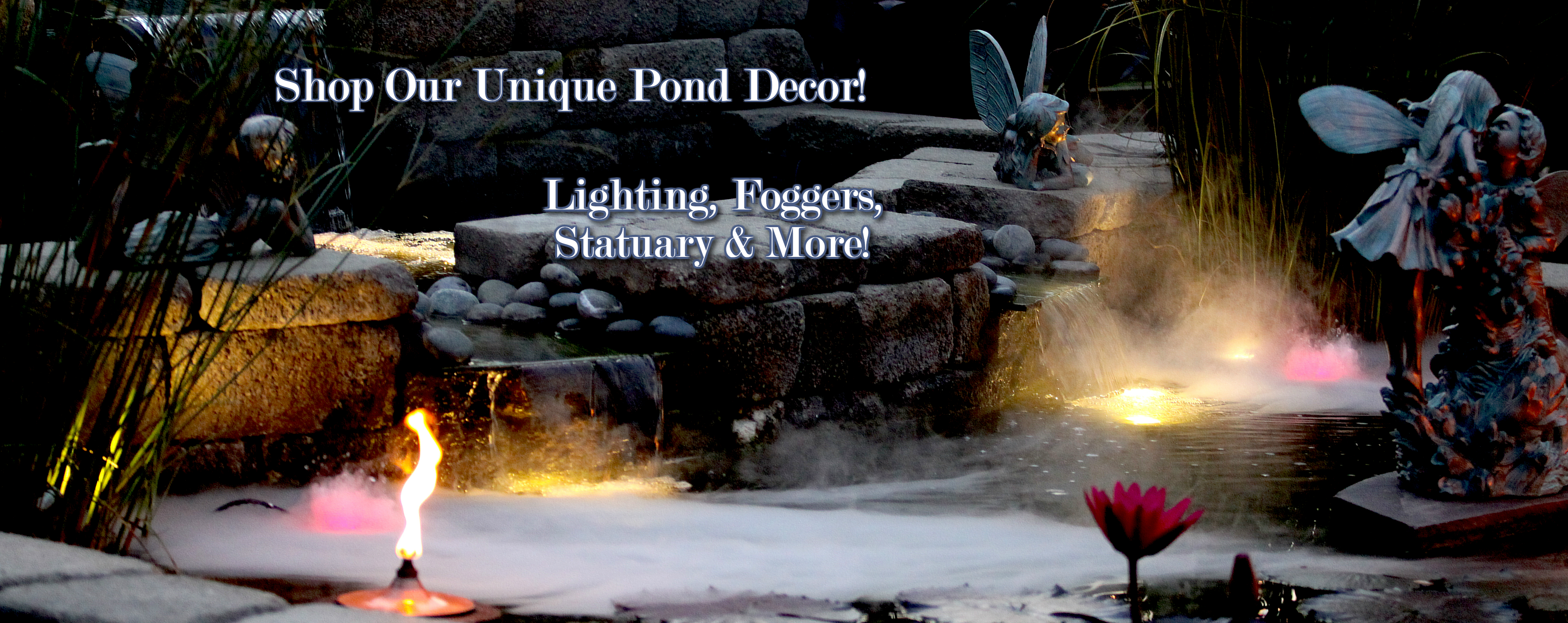Pond supplies pond kits water features fountains for Pond kits supplies