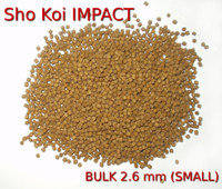 Sho Koi Impact- 50 LB BULK- premium pond fish food-small 2.6 mm pellets