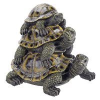 Design Toscano Three's a Crowd Stacked Turtle Statue Front
